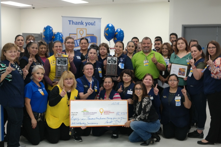 The Walmart Store in Laredo, Texas, has been the top fundraising store in the nation for three consecutive years!